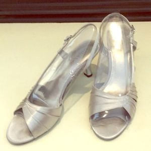 Kelly and Katie Silver Dress Sandals